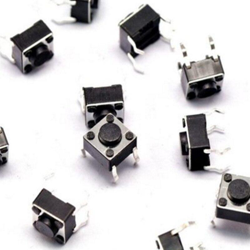 100 pcs 6*6*4.3mm DIP 4 Pin Tátil Tact Botão Interruptor de pressão Pressione o botão de Tela de LCD Monitor de 6X6X4.3 MM Micro Switch