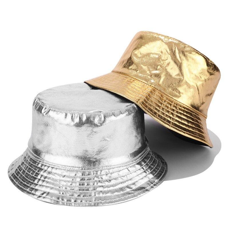Oro nuevo de plata y dos de color sombrero de pescador y mujeres de la calle de la personalidad de doble cara con Cuenca cap hombres cubo sombreros de sol