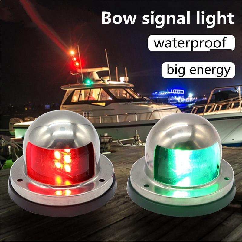 12V LED Bow Navigation Lights red or green Stainless Steel  sail signal light Marine Boat Pontoons Yacht Light 2019 drop ship