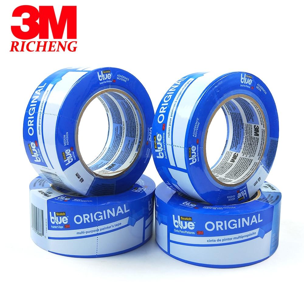 شريط حراري أزرق 3m للطابعة ثلاثية الأبعاد ، شريط لاصق كريب مقاوم للحرارة العالية ، ورق 3 م 2090