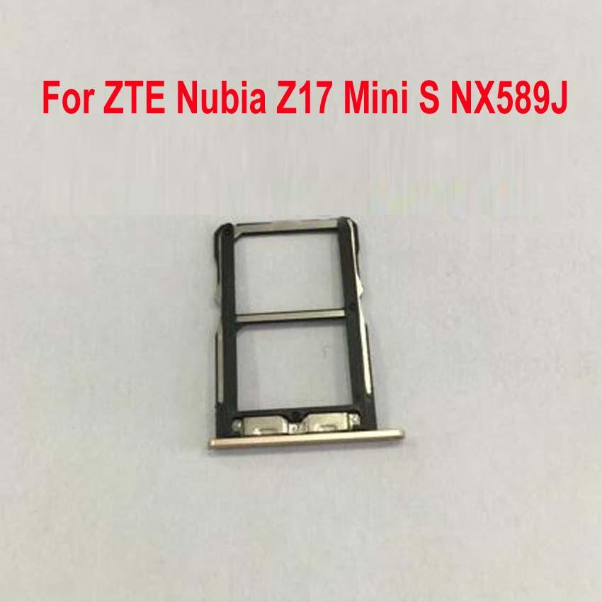Original Best Sim Card Reader Slot Tray Port Holder For ZTE Nubia Z17 Mini S Z17MiniS NX589J Phone Flex Cable Replacement