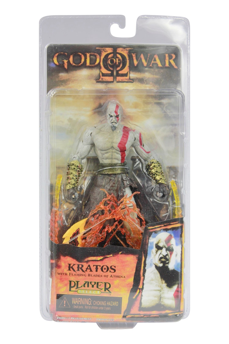 "Alta calidad NECA God of War Kratos en Ares Blades PVC figura de acción juguete 7 ""18cm envío gratis modelo # GOW003"