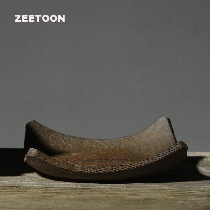 Zen estilo japonés Vintage Coaster cerámica gruesa Kung Fu té Set estera para tetera Master Cup Holder Teacup Saucer decoración creativa del hogar