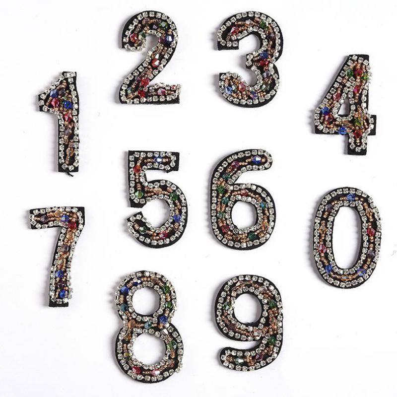 Parche de perforación en caliente con forma de número de 20 piezas...
