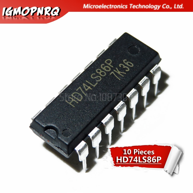 10 Uds HD74LS86P HD74LS86 SN74LS86N 74LS86 DIP nuevo original