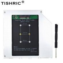 Tishric 12.7 Mm Caddy Msata 2nd Hdd Ssd Harde Schijf Schijf Naar Sata 3 Behuizing Adapter Voor Laptop DVD-ROM Optibay aluminium Case Box