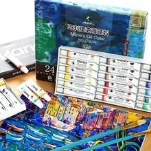 ماري الطلاء النفط اللوحة اللون 12 لون 18 لون 24 لون أنبوب الألومنيوم اللوحة لوازم الفن