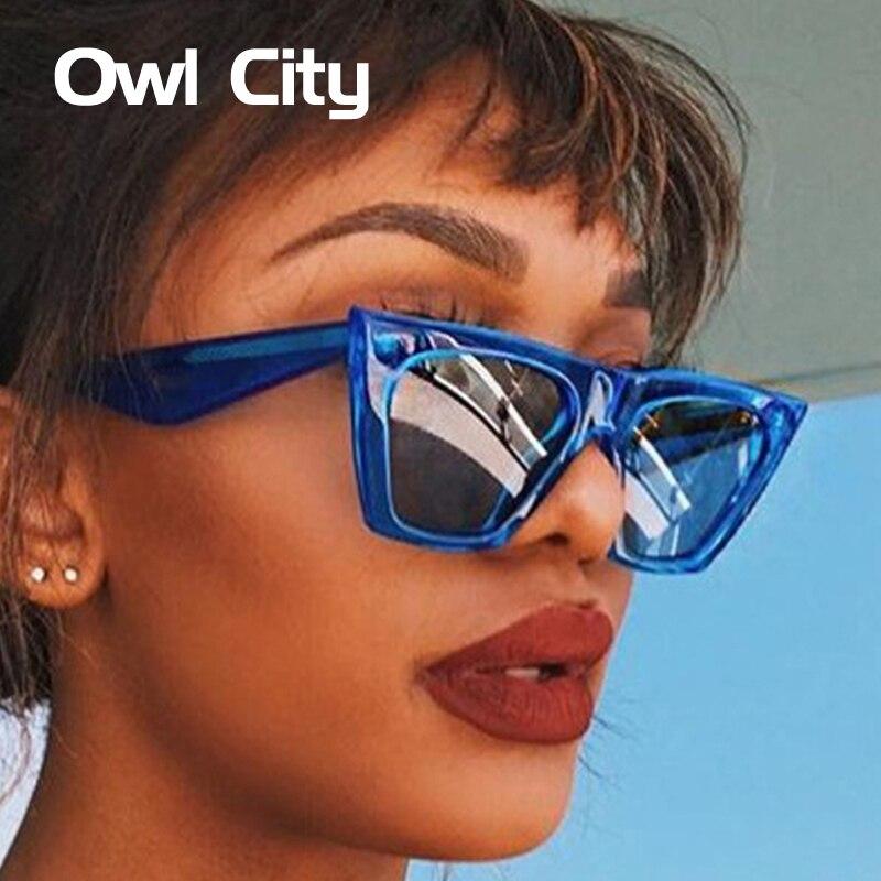 Женские солнцезащитные очки в стиле ретро Owl, винтажные классические очки кошачий глаз с защитой UV400