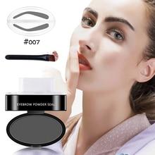 Nouvelle qualité professionnel naturel sourcil timbre beauté outil de maquillage sourcil poudre joint avec brosse maquillage rapide 9 Options