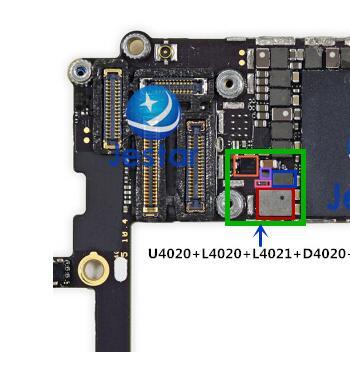 Набор для фиксации подсветки для iPhone 6 S, 1 комплект, ic U4020 + L4020 L4021 катушка + D4020 D4021 диодный + фильтры-предохранители с подсветкой