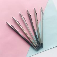 2 개/몫 클래식 금속 육각 프레스 기계 연필 쓰기 연필 학생 편지지 학교 사무실 공급