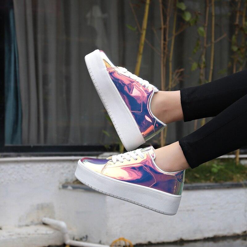 ¡Novedad de 2019! Zapatillas gruesas informales para mujer, zapatos de plataforma a la moda para primavera y otoño, zapatos de lujo con purpurina para mujer, zapatos de diseñador para mujer
