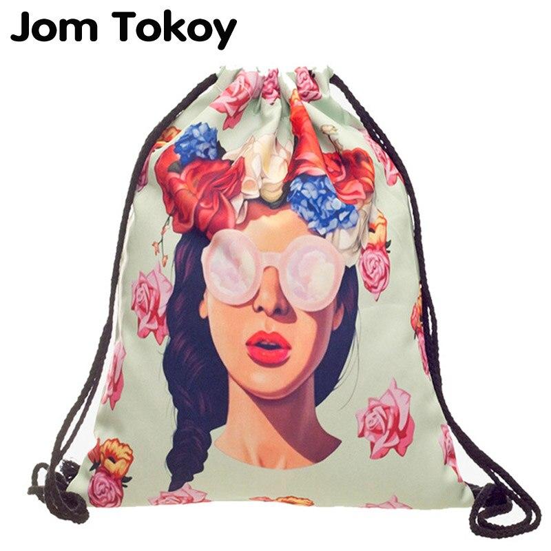 deanfun drawstring bag hot selling 3d printing softback man woman backpacks s89 Characters New fashion Women drawstring Backpack 3D printing travel softback women mochila drawstring bag