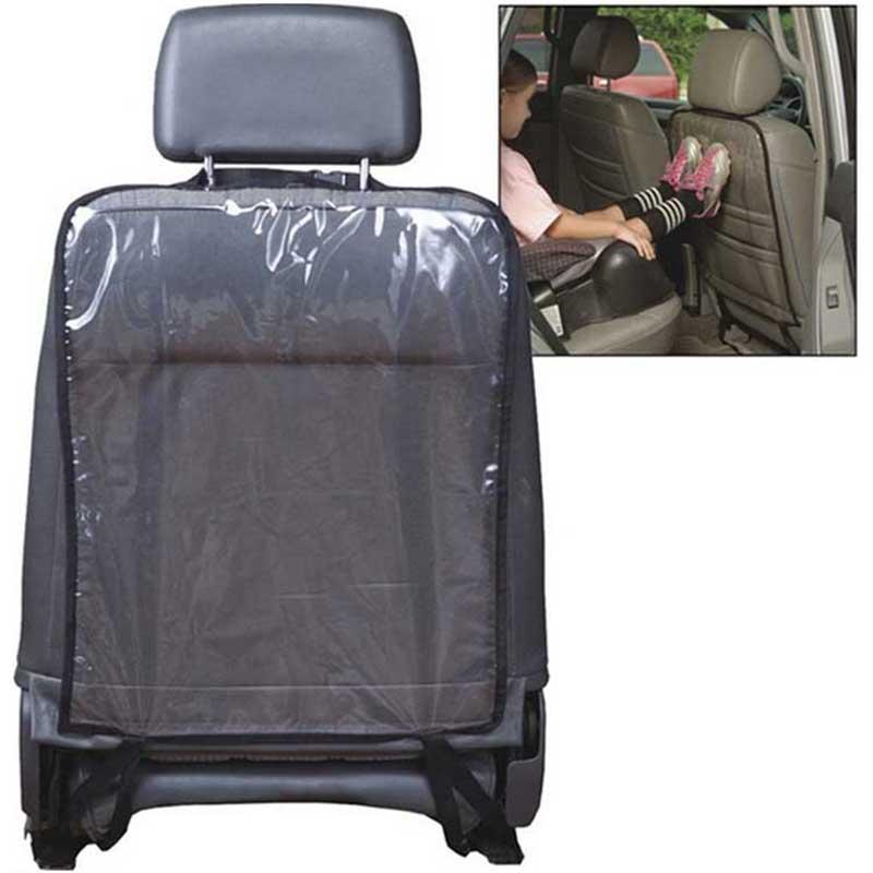 Housse de protection du dos de siège dauto   1 pièce, bâches de voiture transparentes en PVC imperméable pour enfants, tapis de pieds noir nettoyage de la boue 58x44cm