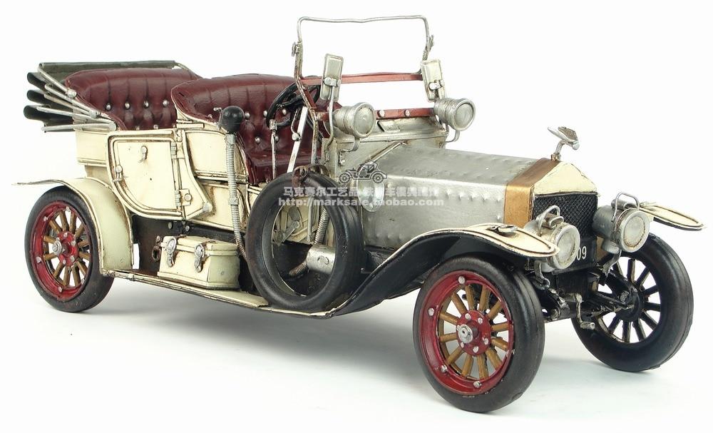 De hierro antiguo Vintage coche modelo 1909 Vintage coche versión convertible regalo Retro Vintage del coche del automóvil modelo Cafe Bar Decoración