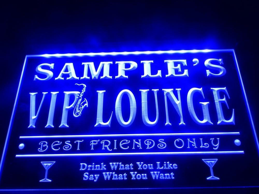 DZ039-Nome Personalizad VIP Lounge Melhores Amigos Só Bar Beer LED Neon Sign