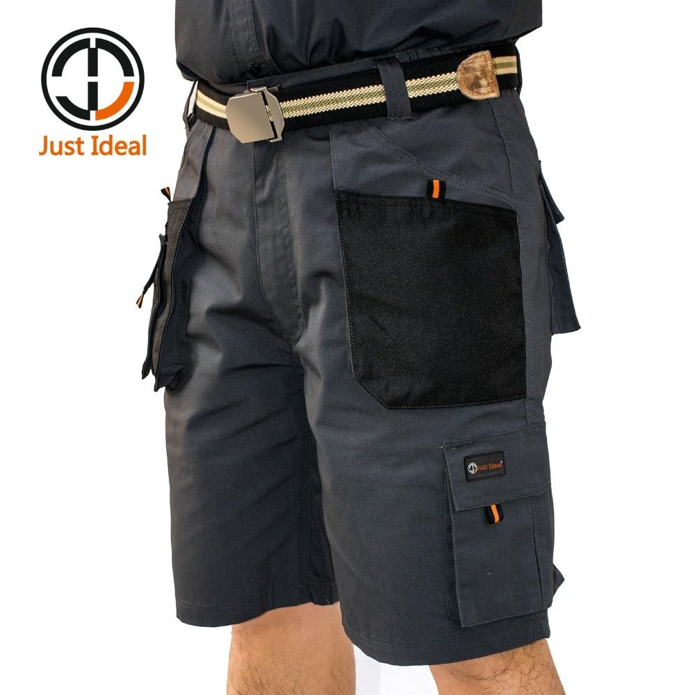 Мужские холщовые шорты, военные тактические Короткие рабочие шорты, несколько карманов, износостойкие короткие шорты в стиле милитари, бер...