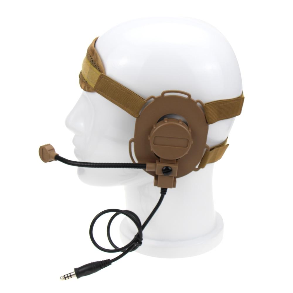 Auriculares tácticos Bowman Elite II con micrófono PTT de 2 pines estilo U94 para Midland Walkie Talkie G6 G7 GXT550 GXT650 LXT80 LXT112 LXT435