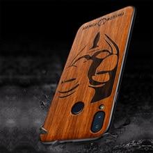 Étui pour Huawei Honor Play en bois sculpté housse de pochette de protection en polyuréthane thermoplastique antichoc pour Huawei Honor Play coque en bois Honor Play 6.3