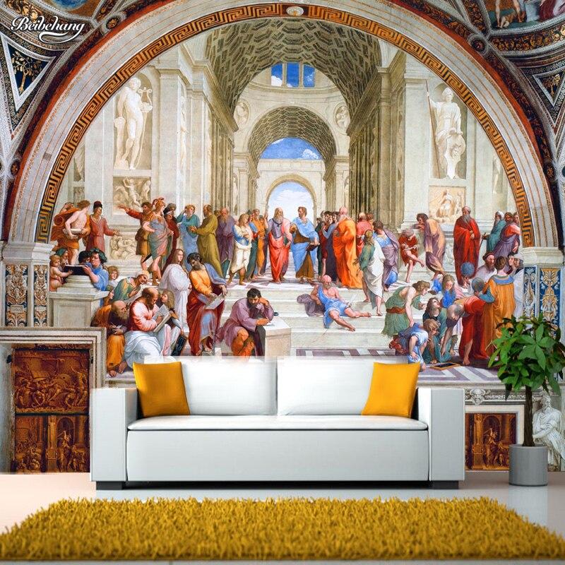 Papel de pared beibehang, papel pintado famoso, mural clásico de Europa Occidental, papel pintado famoso, papel tapiz de hotel de Roma
