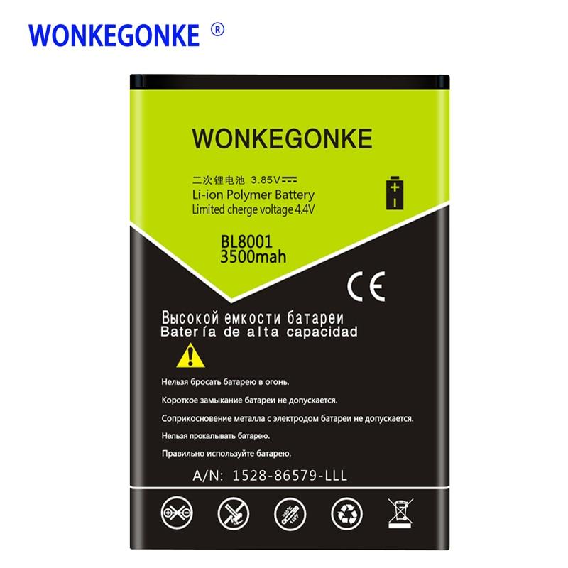 Baterías de alta calidad WONKEGONKE para FLY BL8001 BL 8001 IQ4490 IQ 4490
