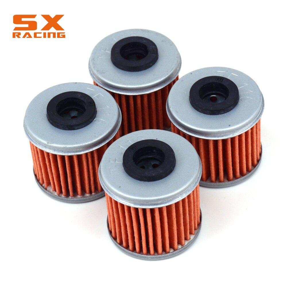 Мотоцикл 4 шт. очиститель масляного фильтра для TRX450 06-14 CRF150 07-15 CRF250 04-15 CRF450 FC250 TC250 TXC250 TE310 TXC310