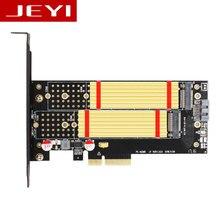 JEYI SK7 Pro M.2 NVMe SSD NGFF к PCI-E X4 3,0 адаптер M ключ B ключ двойной интерфейс карты PCI Express3.0 двойное напряжение 12 В + 3,3 В SATA