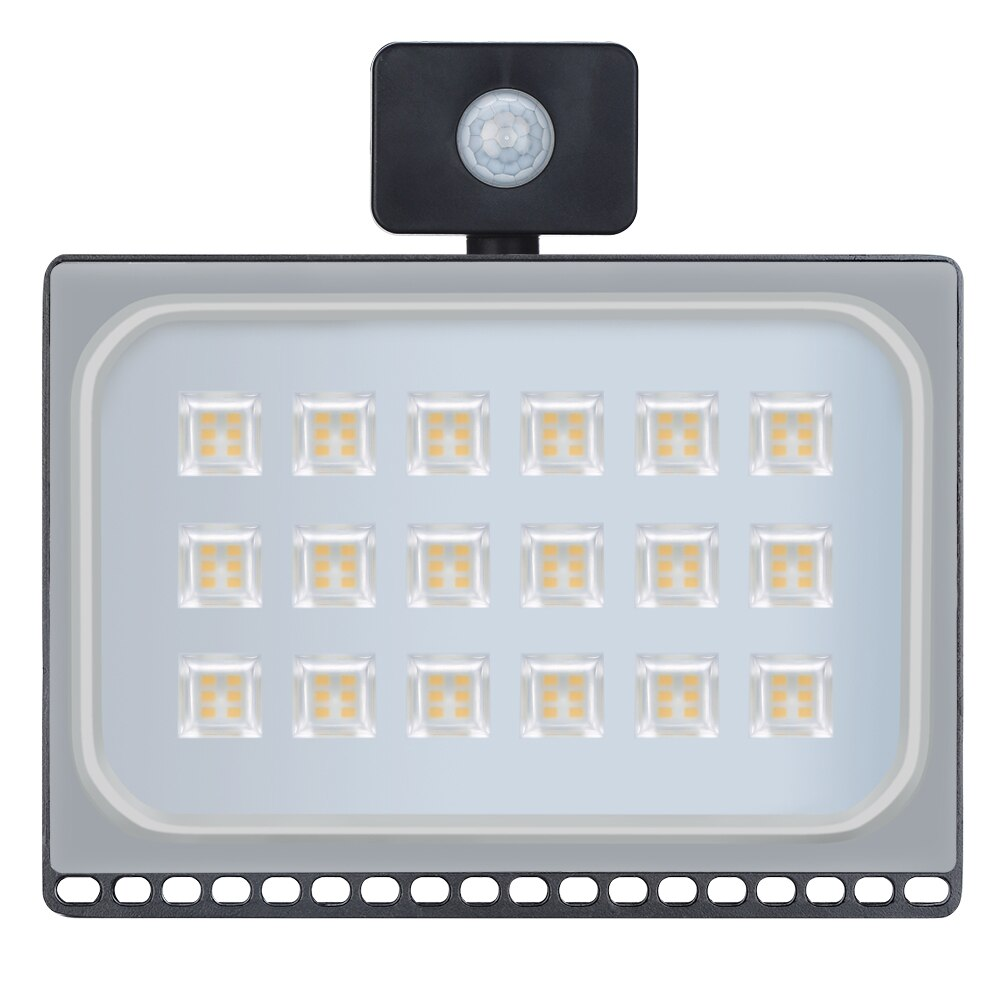 3PCS Ultrathin Motion Sensor Led Flood Light 100W 110V 220V 8000LM Waterproof IP65 Led Floodlights Spotlight Outdoor Lighting