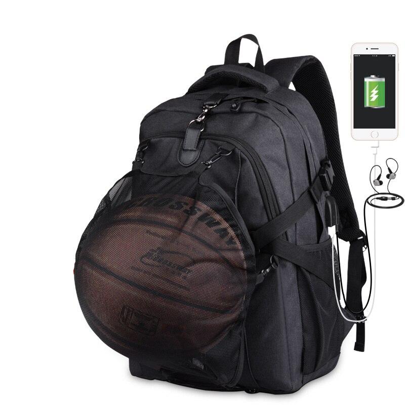حقيبة ظهر رياضية لكرة السلة وكرة القدم للرجال ، حقيبة مدرسية للمراهقين ، للأولاد ، شبكة كرة القدم لأجهزة الكمبيوتر المحمول ، حقائب كرة السلة