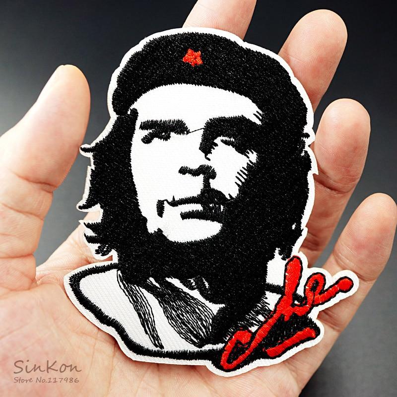Che Guevara (tamaño: 8.0X9.3cm) insignias de tela DIY parche etiqueta bordada para coser adhesivos para ropa adorno para ropa