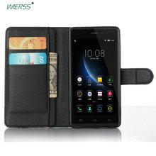 Housse de luxe en cuir à rabat pour DOOGEE X5/pour DOOGEE X5 Pro X5S couverture arrière boîtier portefeuille coque + carte + support