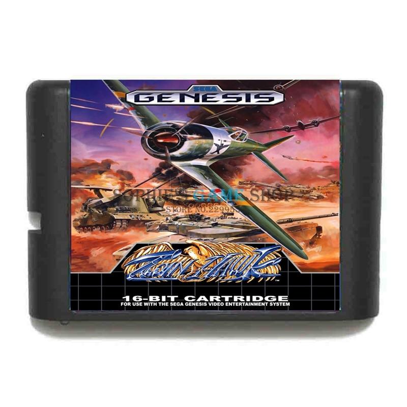 Twin Hawk-cartucho de juego de 16 bits, tarjeta de juego para Sega...