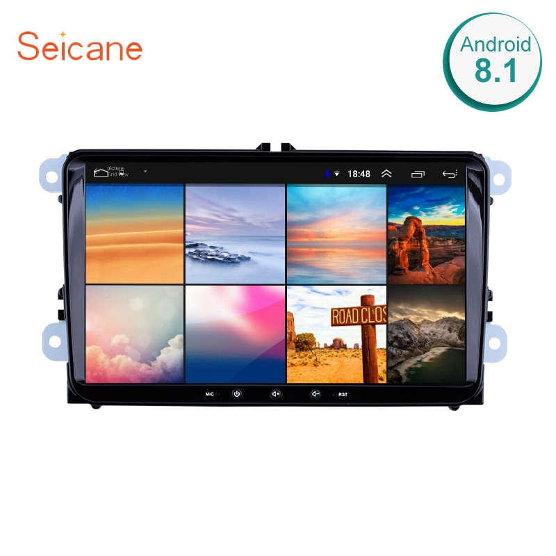 Seicane Android 8,1 2Din автомобильный мультимедийный плеер для VW/Volkswagen/Golf/Polo/Tiguan/Passat/b7/b6/SEAT/leon/Skoda/Octavia радио GPS