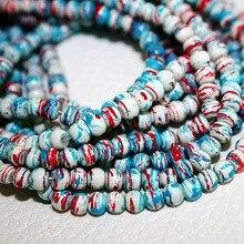 Neuheiten Ca. 210 teile/los 4mm Beige Perlen Glas Runde Perlen für Schmuck Herstellung & DIY Perlen (Gemalt zufällig)