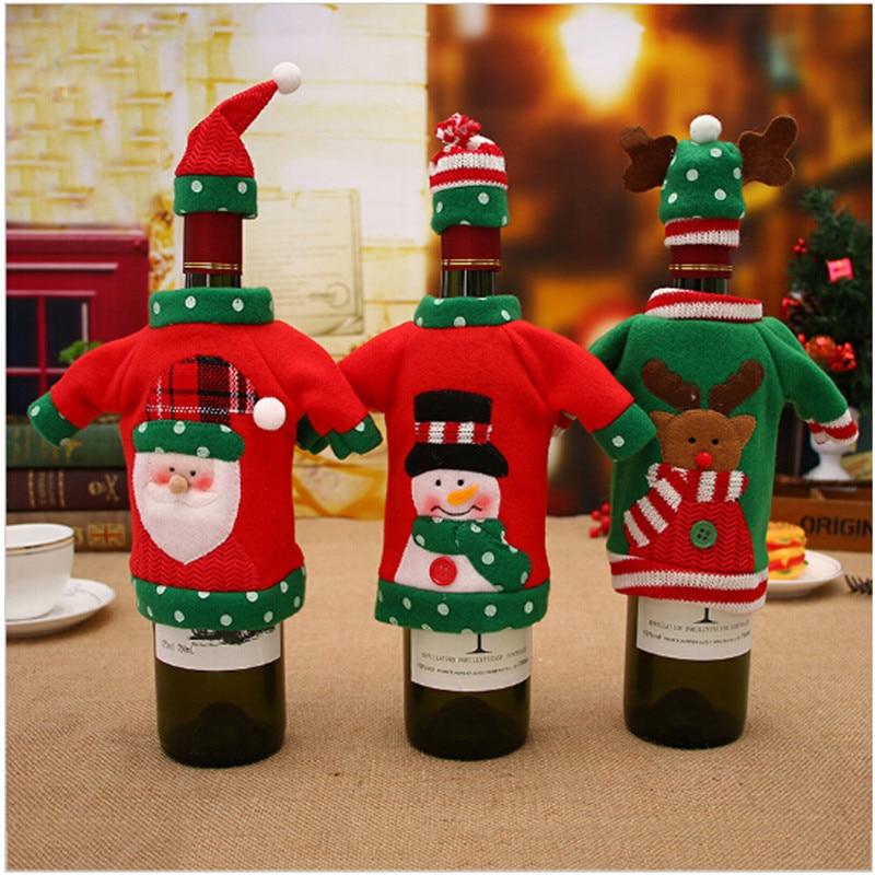 Funda para botella De vino tinto, funda De vino tinto, Decoración De...