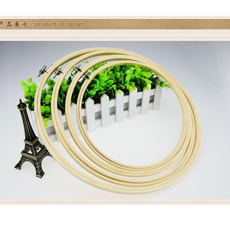 10 Uds. Aro de bambú bordado de 20 CM marcos chinos de punto de cruz aros redondos herramientas de manualidades hechas a mano y decoración del hogar