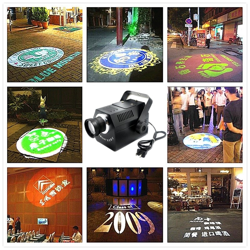 Мини-проектор с логотипом, 30 Вт, 50 Вт, линзы логотипа на заказ, розничная продажа, знак, уведомление, Gobo линзы для вечеринок, диско, ktv