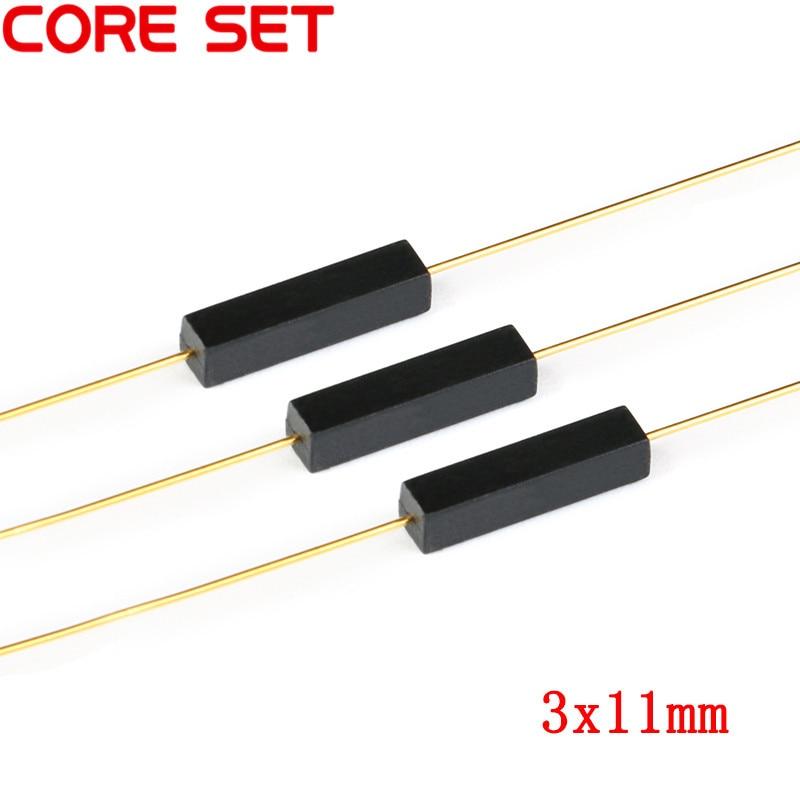10 Uds. Interruptor de lámina de plástico 3x11mm Sensor de lámina magnética normalmente abierto DIY Kit electrónico NO