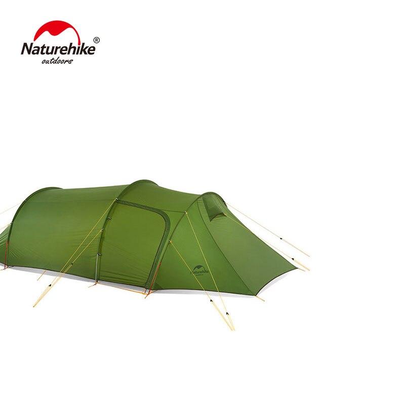 Naturehike, tienda con túnel Opalus ultraliviana para 3 personas, 20D/210T, tienda de campaña de tela con huella libre NH17L001-L
