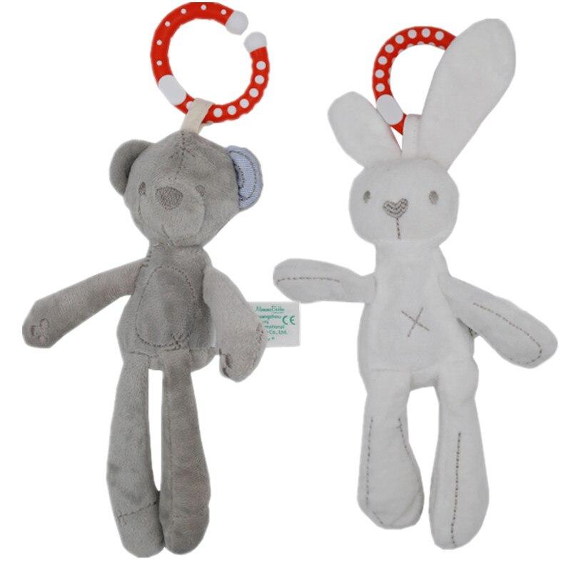 Lindo bebé cuna cochecito de juguete, conejo Conejo, conejo oso de peluche bebé muñeca cama móvil cochecito chico animal anillo 40%