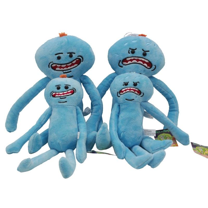 Juguetes de peluche de Rick y Morty de 28cm, nueva animación de Rick Morty Rick Q Mr. Meeseeks, muñecos de peluche de juguete para niños, regalo para decoración del hogar