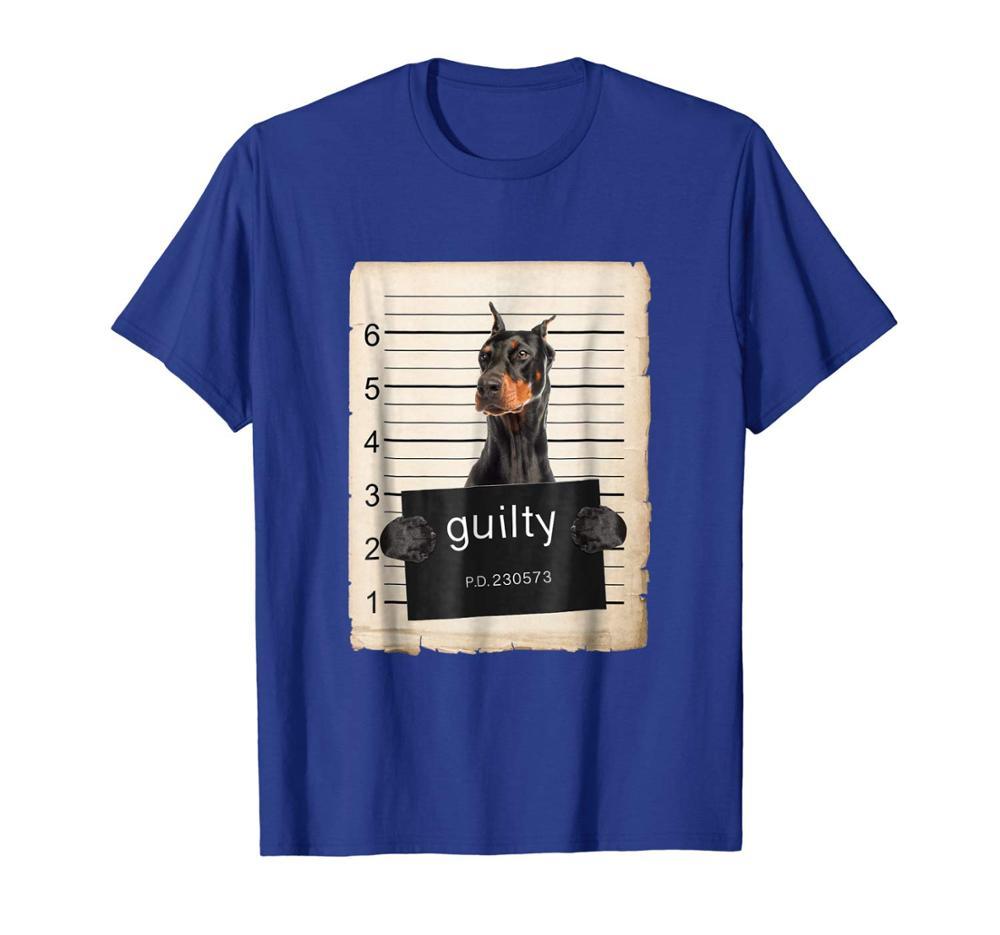 Doberman Pinscher Dog Mug Shot Shirt 2019 New Men Hot Fashion summer O-Neck Printing T Shirts