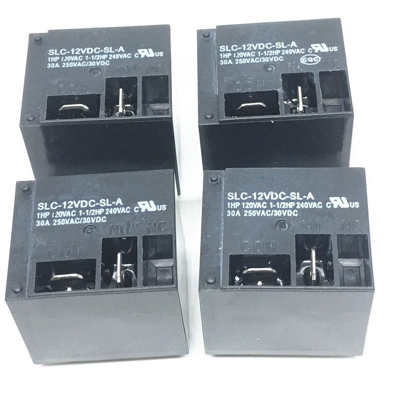 5 uds Relés de Potencia SLC-12VDC-SL-A 12V 30A T91 HF2100 4PIN un grupo de normalmente abierto