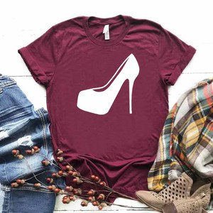 High heel shoe Women tshirt Cotton Casual Hipster Funny t-shirt Gift Lady Yong Girl Top Tee Drop Ship ZY-299