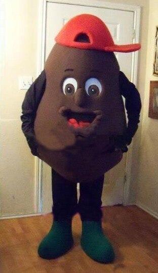 Ohlees envío gratis disfraces de Mascota de chocolate negro para Halloween