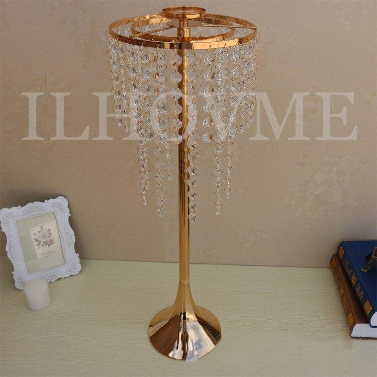 10 unids/lote candelero europeo candelero de cristal acrílico diámetro 21cmx alto 60 cm/8x24 soporte de vela pasillo nupcial