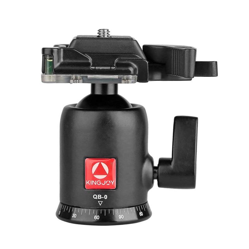 Mejores OFERTAS KINGJOY QB-0 cámara fotográfica de alta resistencia rótula de bola de trípode rotación de 360 grados cabezal panorámico con tornillo de 1/4 pulgadas