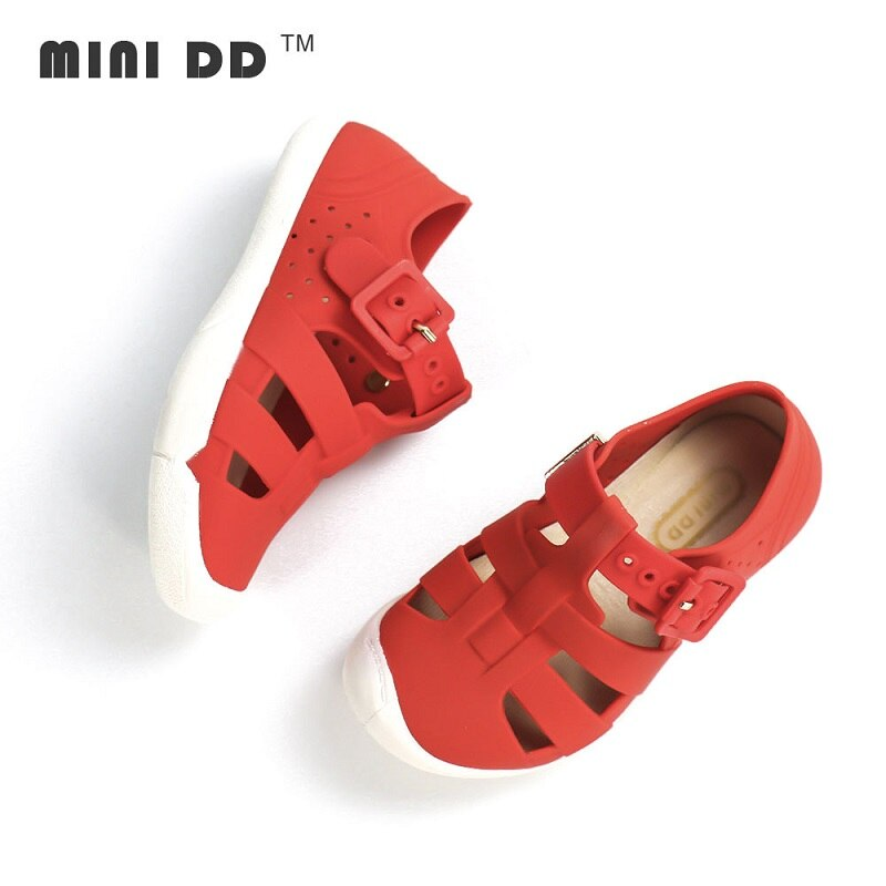 Sandalias de goma para niños, Sandalias de verano para niños, zapatos deportivos informales de apoyo, zapatillas de playa, zapatillas de Niños Niñas, Sandalias descalzas de PVC