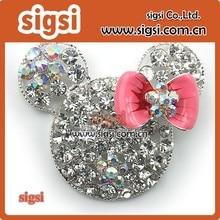 High quality rhinestone mickey pendant, beautiful rhinestone mickey pendant for kids