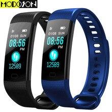 MODOSON Bluetooth Smart Armband Y5 fitness Tracker Armband Smartband Band für huawei xiaomi ios apple iphone 6 7 8 9 XS plus